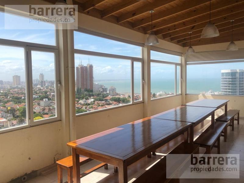 excelente piso con vista inmejorable al mar y parque san martin