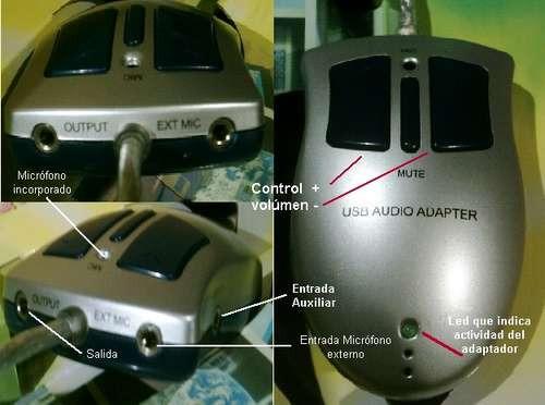 excelente placa de audio stereo por usb micróf. incorporado
