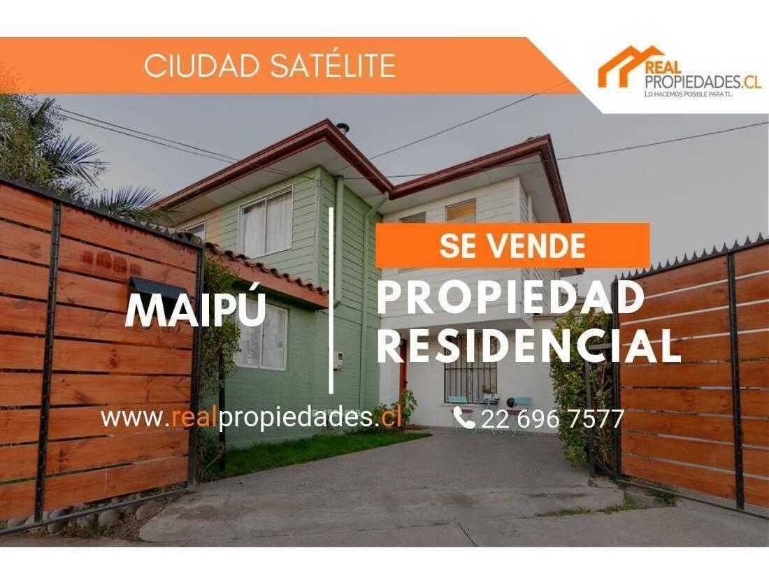excelente propiedad barrio consolidado ciudad satélite maipú