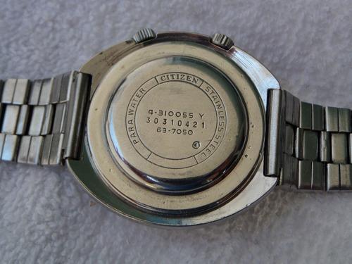 excelente reloj citizen  alarma ufo  automatico