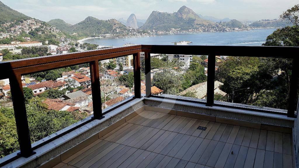 excelente residência em condomínio de alto padrão, vista deslumbrante para enseada de charitas. - ca1426