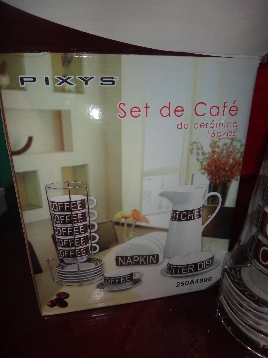 Excelente Set De Cafe 16 Piezas Marca Pixys Bs 6 555 900 00 En  # Muebles Tiendas Pixys