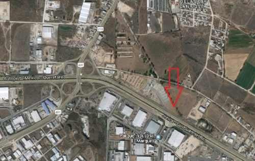 excelente terreno 3.1 hectareas en venta frente al parque industrial el marquez