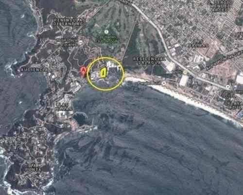 excelente terreno a pie de playa en peninsula de santiago