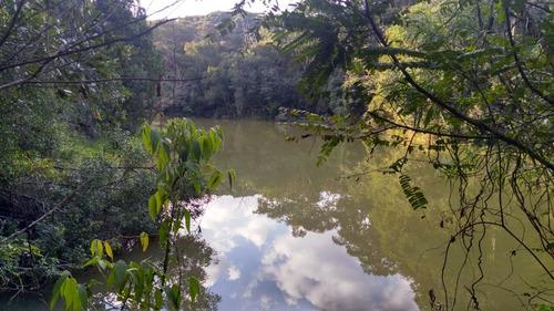 excelente terreno com lago para pesca próximo da represa j