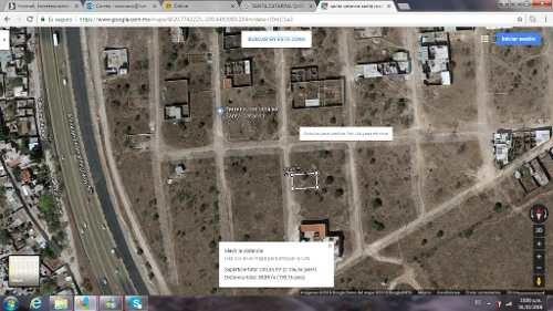 excelente terreno de 200 mts cuadrados, con 10 de frente y 20 de fondo, frente a sta catarina rumbo