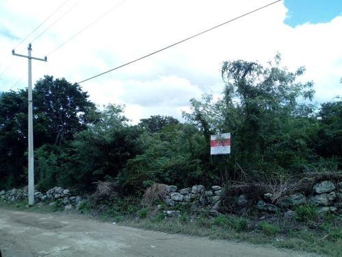 excelente terreno en venta en conkal