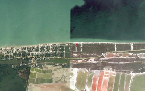 excelente terreno frente al mar en san crisanto