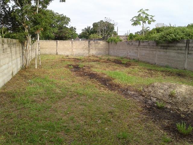 excelente terreno totalmente murado, em itanhaém jd palmeira
