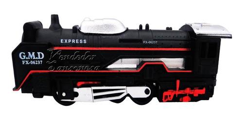 excelente tren clasico 13pzas c/luz+sonido 34cm diversion
