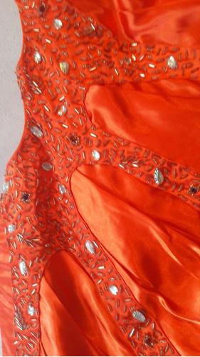 excelente vestido bordado a mano de gala/fiesta/recepcion/15