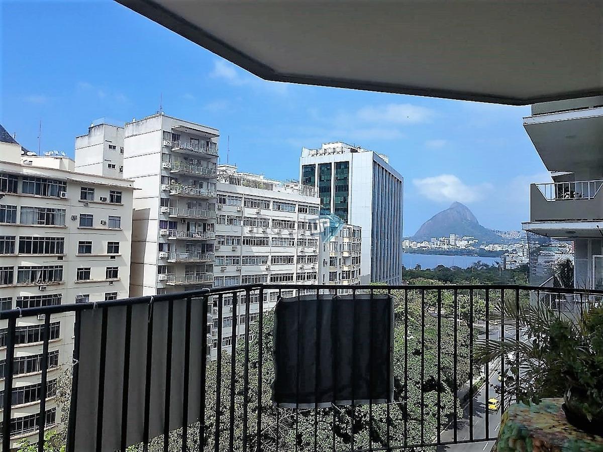 excelente vista da lagoa. apartamento no humaitá!! - 4410