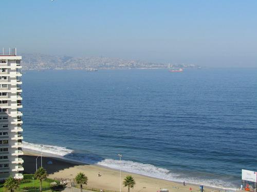 excelente vista dpto. frente al muelle vergara y playa