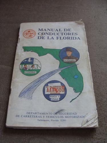 excelente y antiguo manual de conductores de la florida