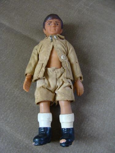 excelente y raro muñeco año 1974, 15 cm de alto