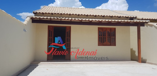 excelentes casas prontas á 100 mts da rodovia em unamar, cabo frio - fac 225 - 34141262