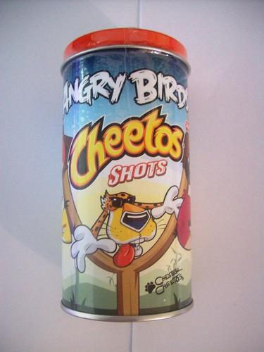excelentes latas de la colección cheetos angry birds, maa