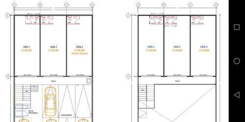 excelentes locales comerciales, zona comercial av. de la luz, 40 m2, ½ baño c/u.