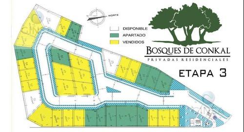 excelentes lotes de terreno ubicados en la privada bosques de conkal