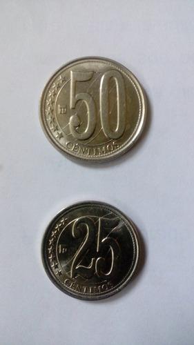 excelentes monedas aniversario 50 y 25 cts.