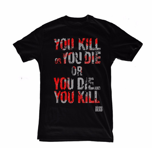 excelentes remeras modelos exclusivos the walking dead