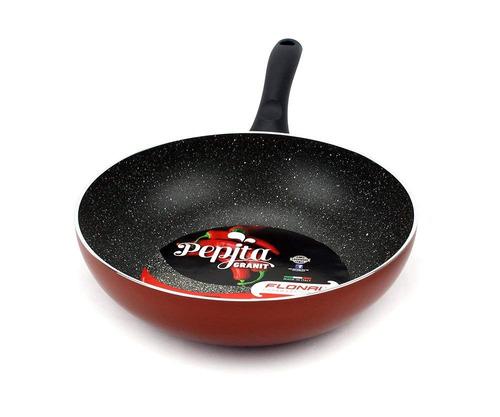 excelife flonal utensilios de cocina pepita granito wok pan,