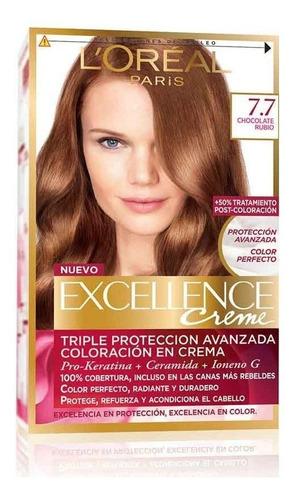 excellence creme loreal coloración en crema tintura x 6 kits