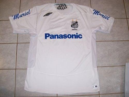 excepcional camisa de jogo santos #17 rodrigo tabata - tam g