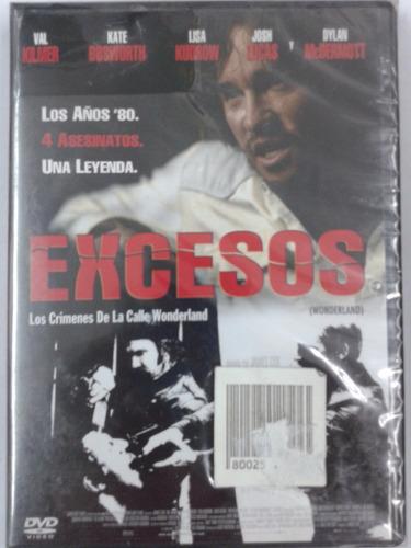 excesos - dvd nuevo original cerrado