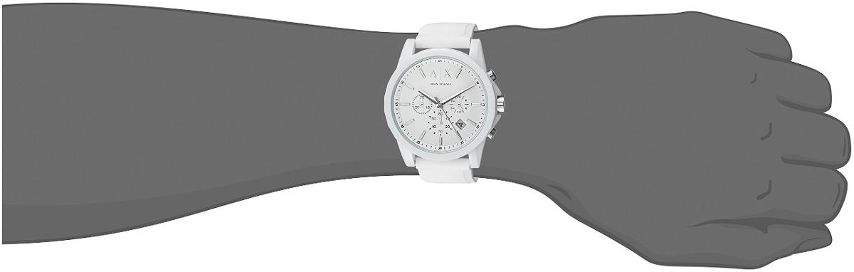 67a41c124f05 Armani Exchange Hombres Ax1325 Blanco Reloj De Silicona -   428.600 ...