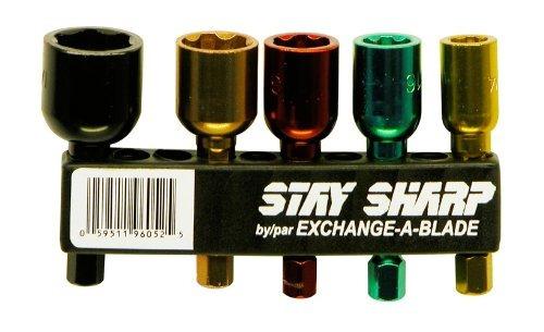 exchangeablade 96052 stay sharp asst nutsetters clip de 5 pi