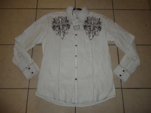 Exclusiva Camisa Pavi  M Burgundy Cross