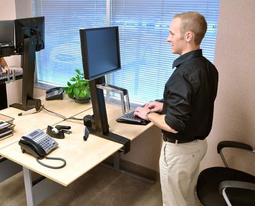 exclusiva estación de trabajo soporte computadora ergotron