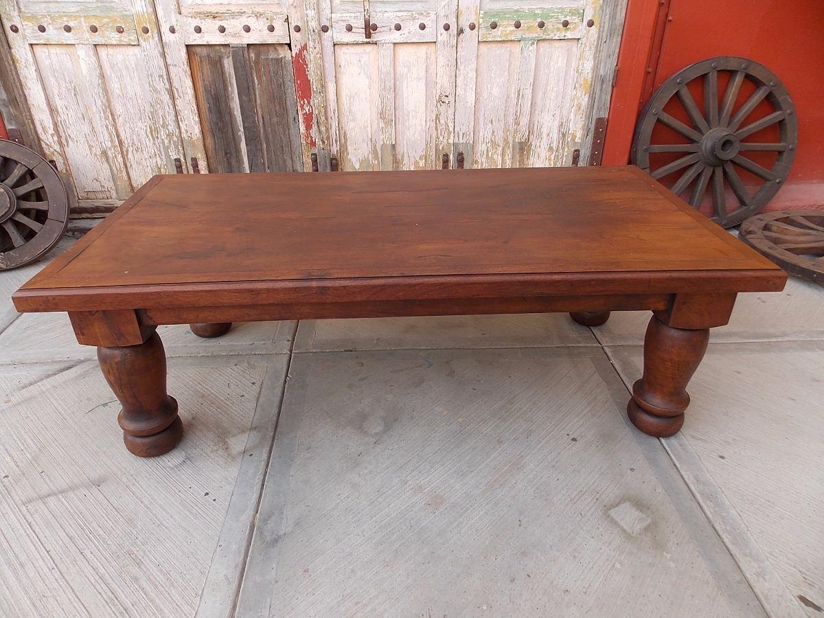 Exclusiva mesa de centro madera de mezquite estilo antiguo for Mesas de centro antiguas