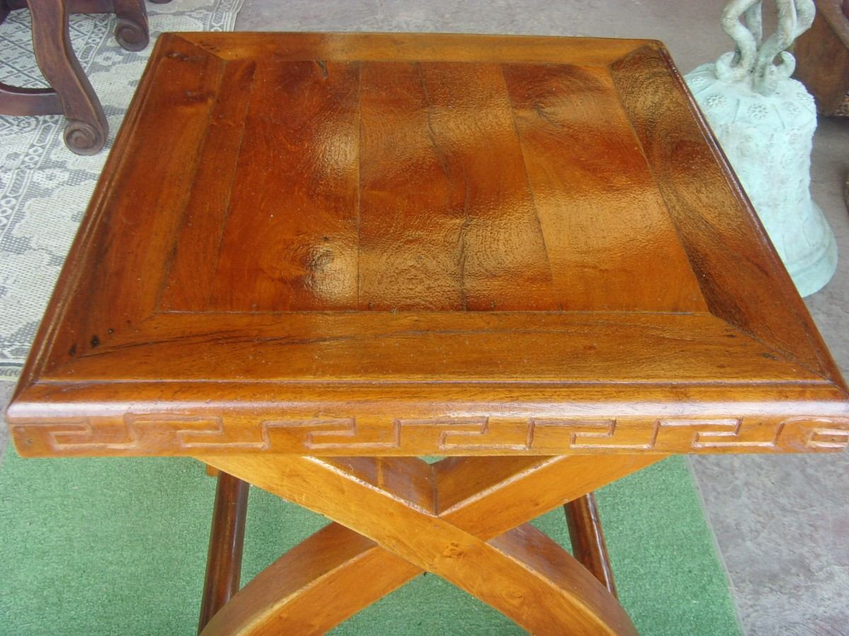Exclusiva mesa de madera de mezquite para exterior - Mesa madera exterior ...