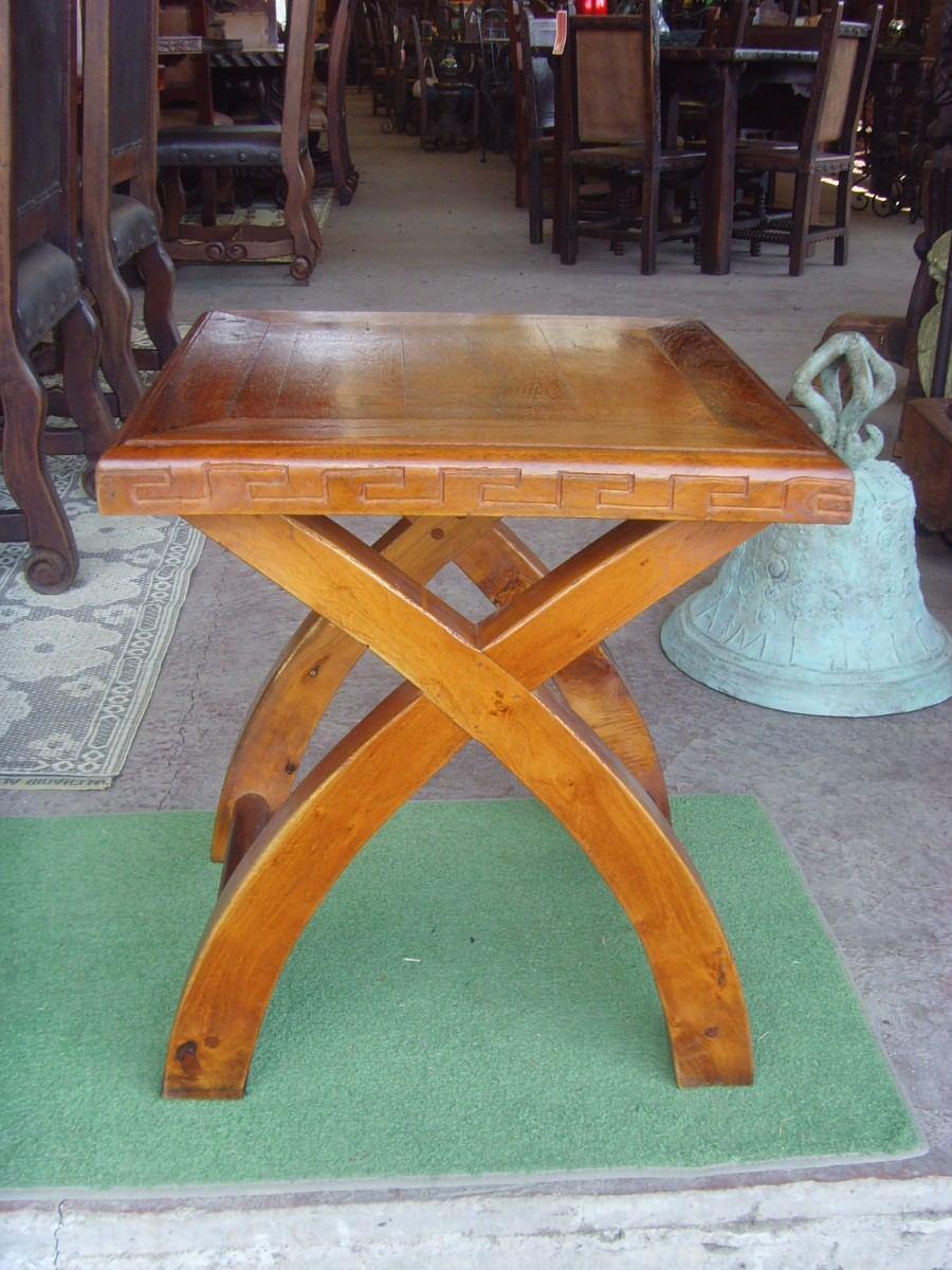 Exclusiva mesa de madera de mezquite para exterior for Mesas de madera para exterior