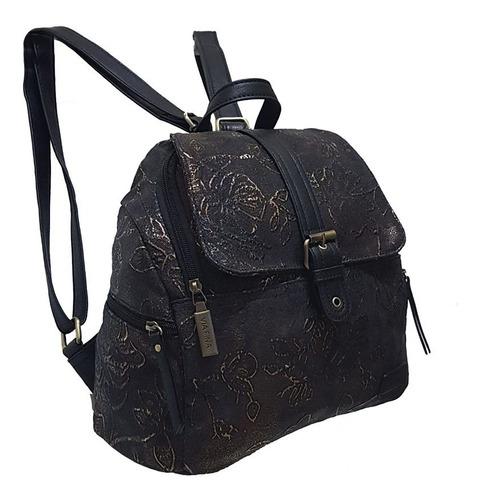 exclusiva! mochila cartera vía fina carved 63419  cuero pu!