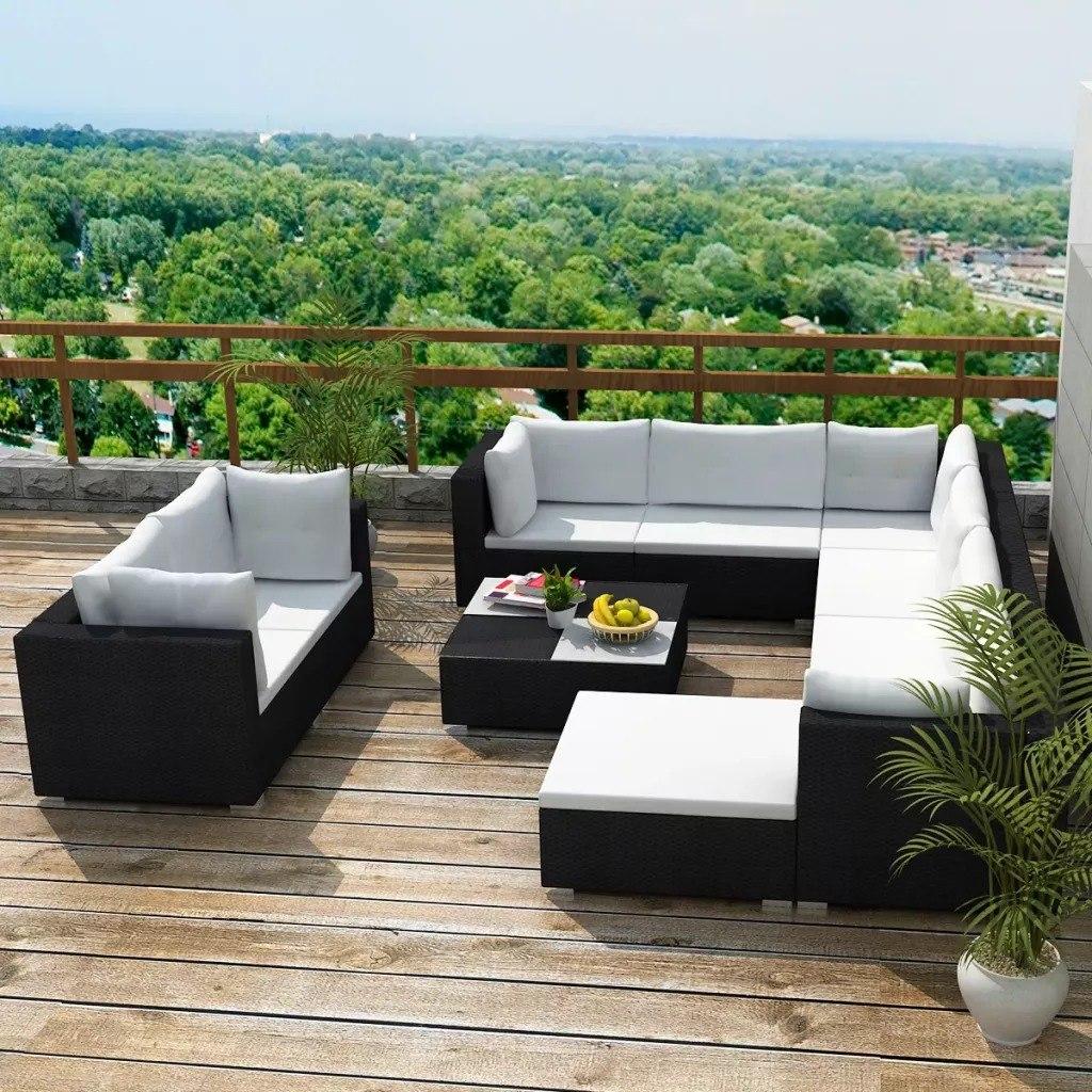 Exclusiva Sala De Rattan Muebles De Exterior Terraza Jardin