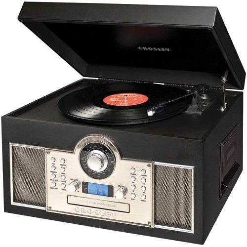 exclusiva tornamesa cd cassette crosley memory master