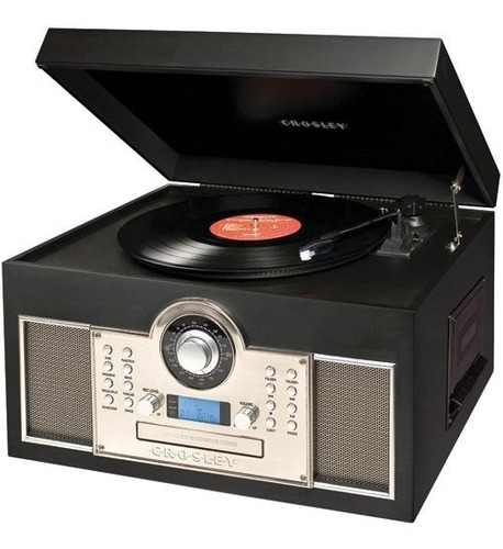 exclusiva tornamesa cd cassette crosley memory master