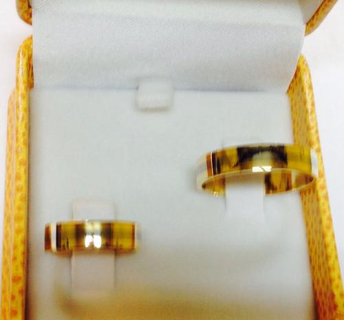 exclusivas  argollas bicolor oro blanco amarillo  18 ktes