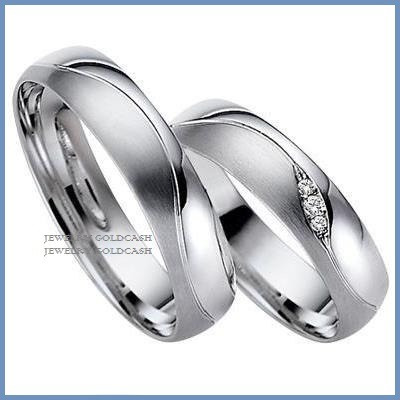 exclusivas argollas de oro blanco y plata matrimonio regalo