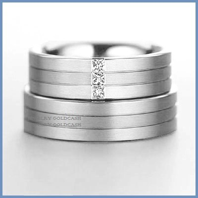 Exclusivas argollas de oro blanco y plata matrimonio for Precio rodiar anillo oro blanco