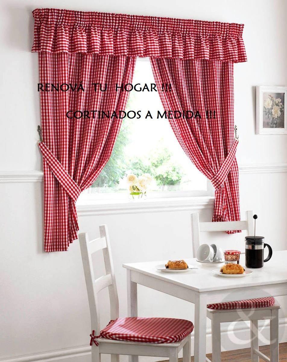 Exclusivas cortinas de cocina preciosas 350 00 en mercado libre - Cortinas para cocina ...