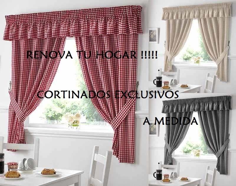 Exclusivas cortinas de cocina preciosas 350 00 en - Que cortinas poner en la cocina ...
