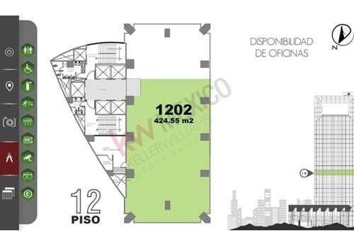 exclusivas oficinas en renta en torre cuadrata en paseo de la reforma.