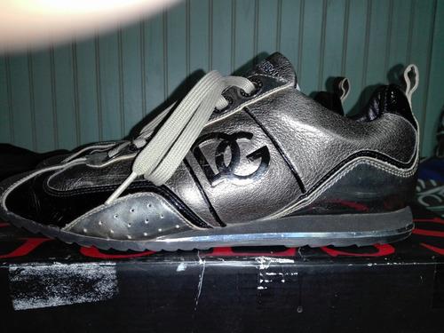 exclusivas zapatillas dolce gabbana, cuero, talla 42