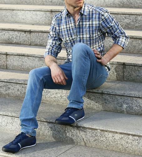 exclusivas zapatillas lacoste, blue