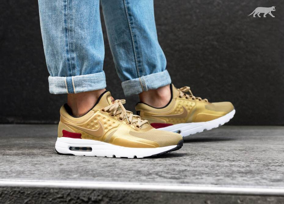 size 40 3e0cf cc06b exclusivas zapatillas nike air max zero qs metallic gold!!! Cargando zoom.
