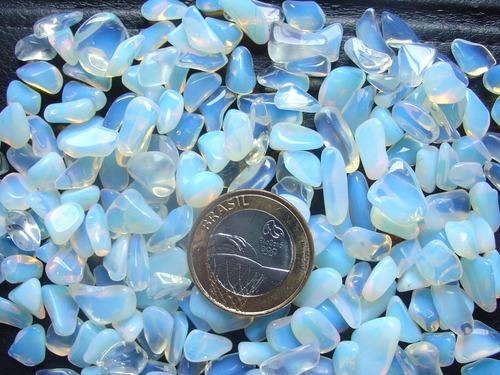 exclusividade! pedra da lua rolada 1 a 1,7cm pacote de 250gr